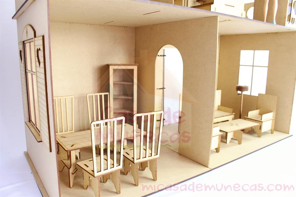 Muebles de madera para barbie photos barbie collections for Muebles casa de munecas