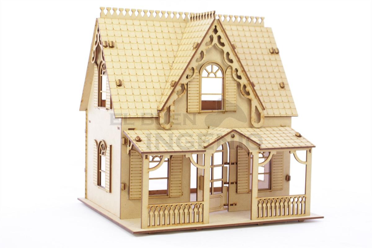 Casa de muñecas de campo para muñecas tipo Polly Pocket