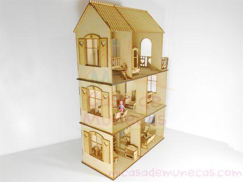 casa de muñecas para muñecas pequeñas tipo Polly Pocket