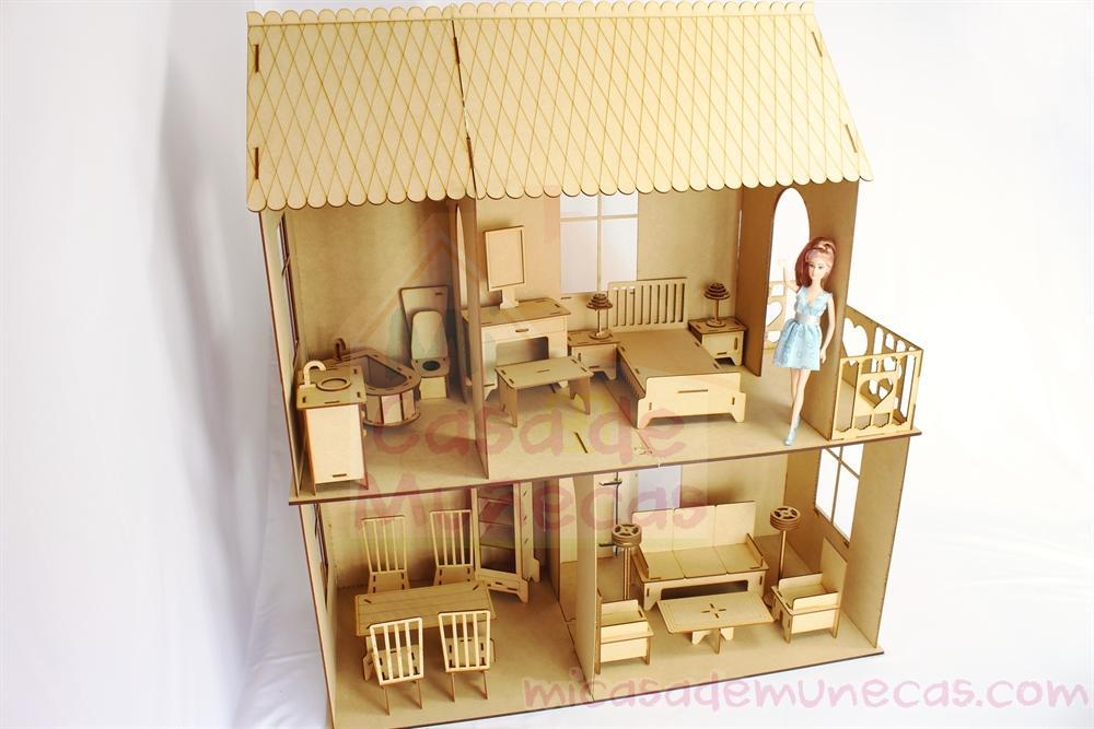 Casa de munecas barbie c2l incluye 22 muebles para tu casita - Casa de munecas you and me ...