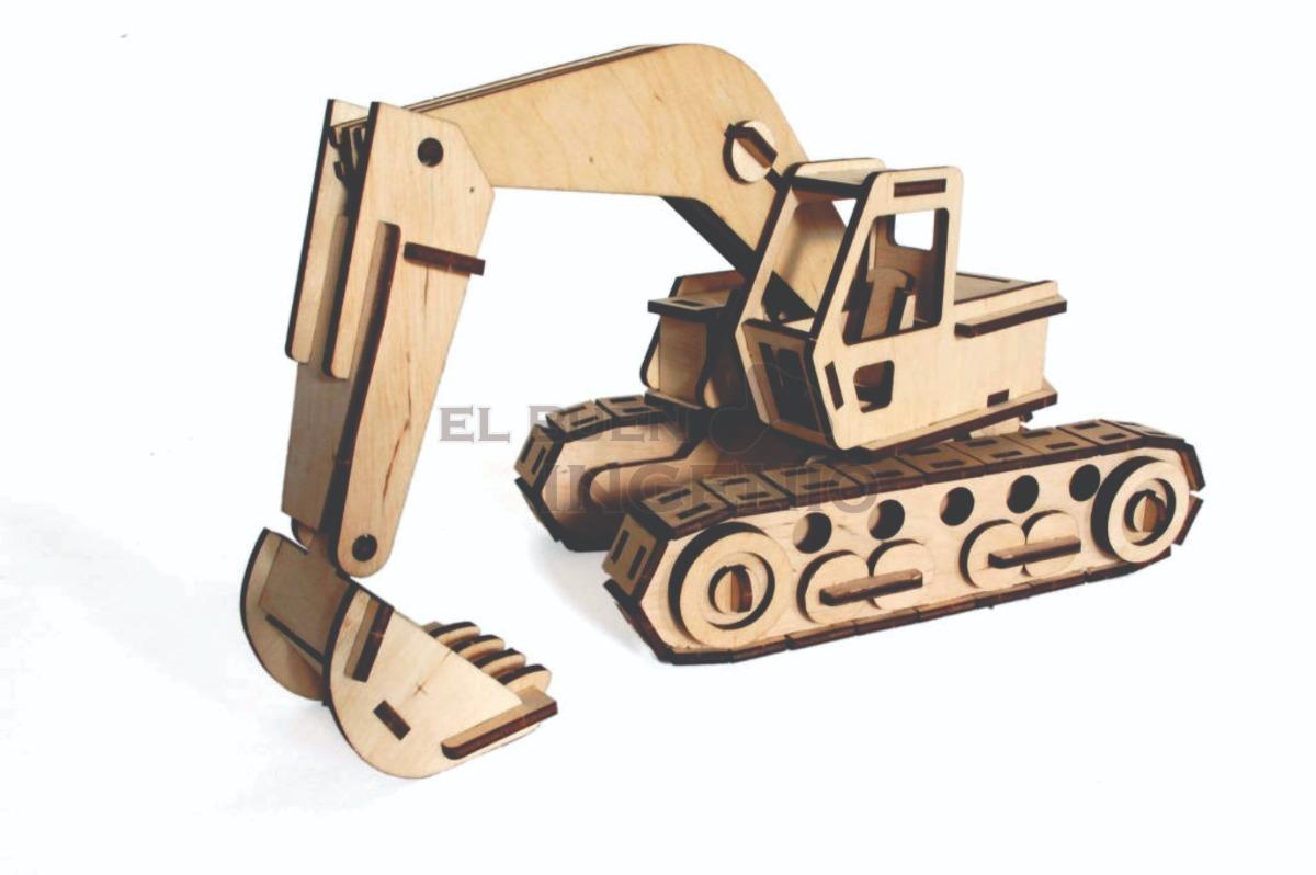 Excavadora de madera