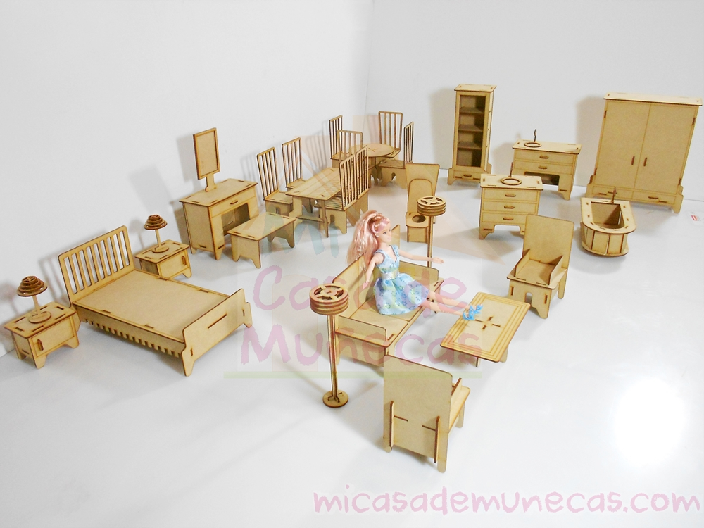 Muebles para munecas barbies - Un kit que te divertirá en grande