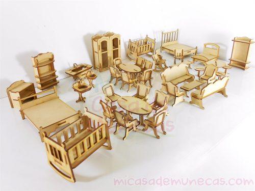muebles mini para munecas