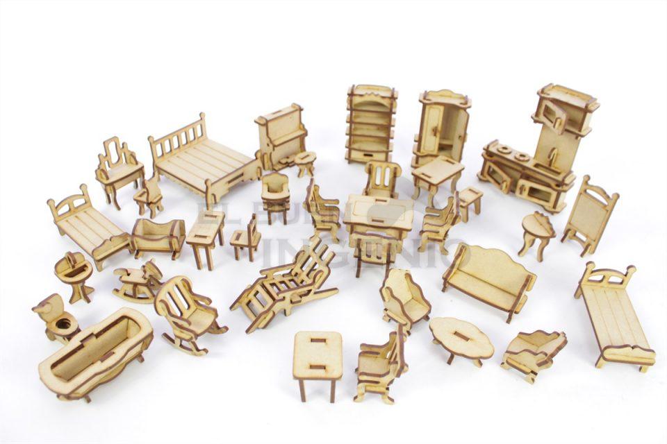 set de muebles para muñecas