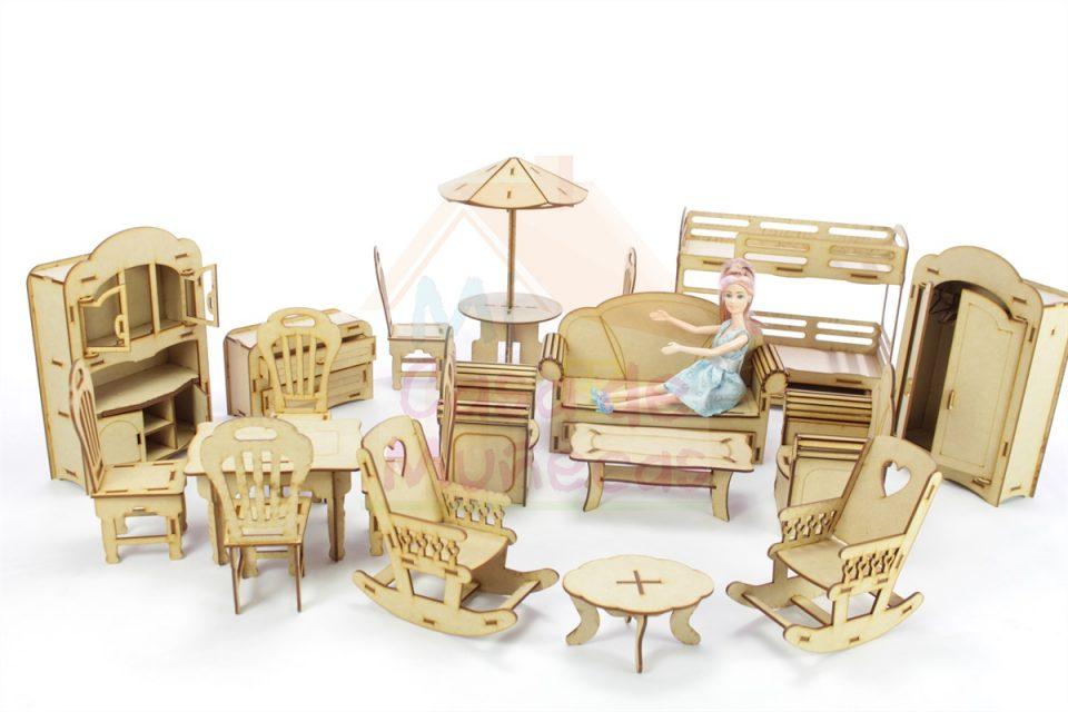muebles para muñecas barbies
