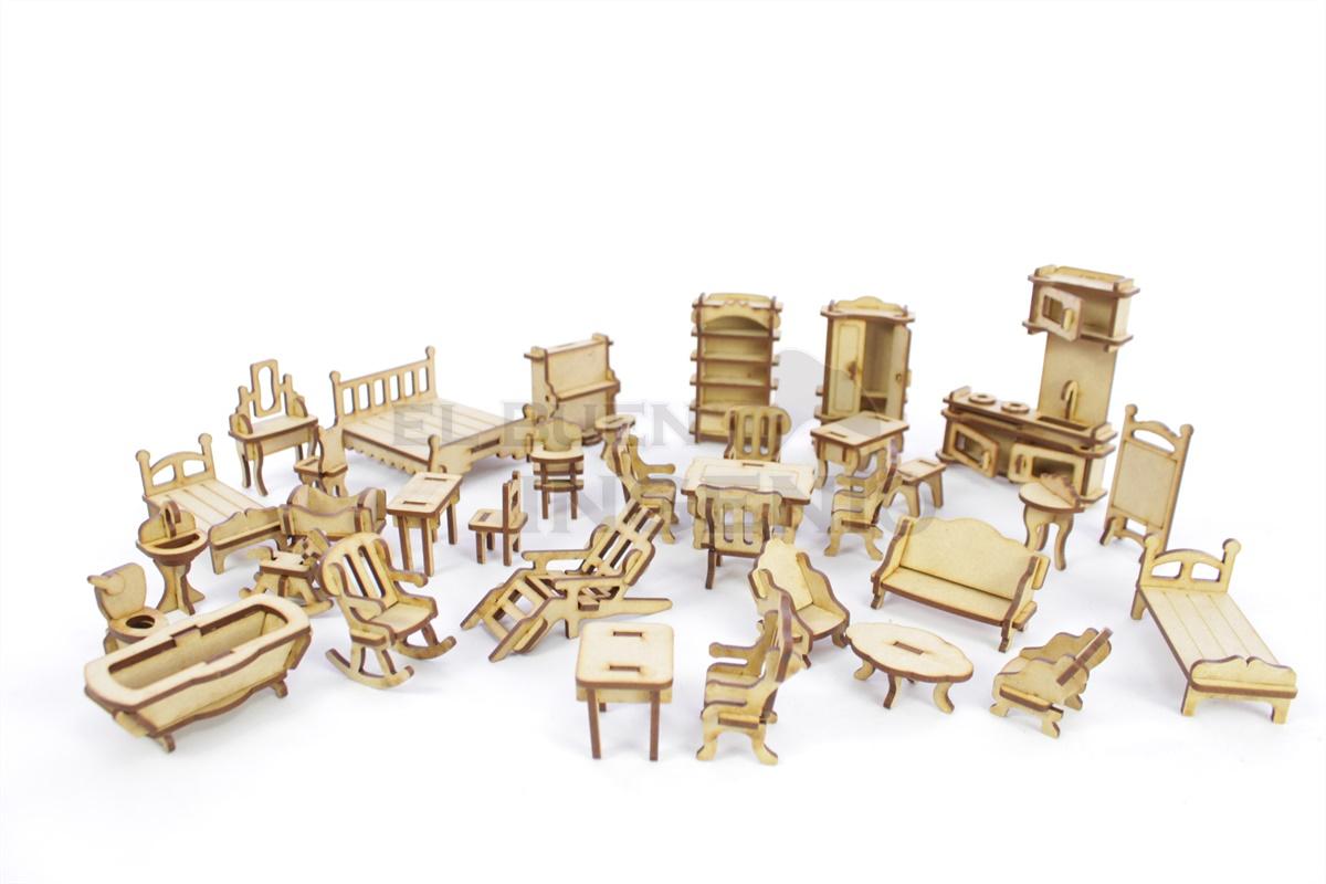 Set de muebles 35 piezas