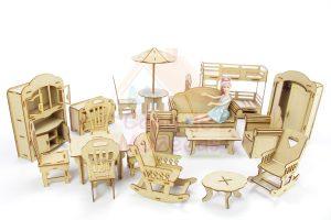 muebles para casa de muñecas barbie madera