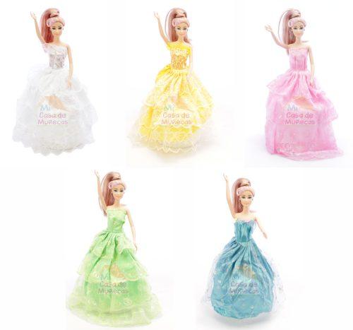 hermosos vestidos de muñecas barbie